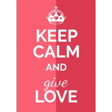 Plakat typograficzny 36 keep calm and give love