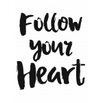 Plakat typograficzny 43 follow your heart